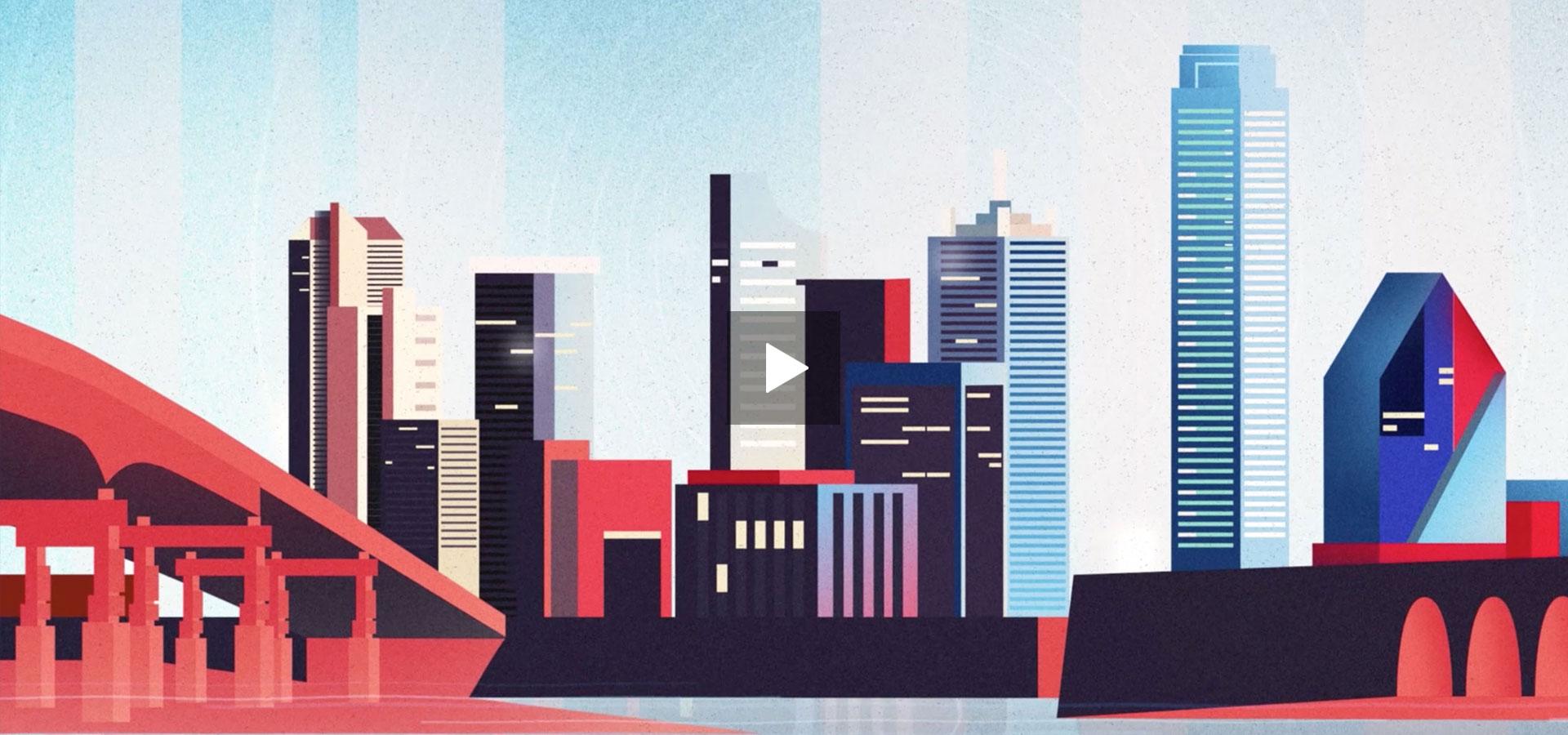 Paradox Engineering - PE Smart Urban Network - Motion Graphics - Explainer Video - Illustration - Milano
